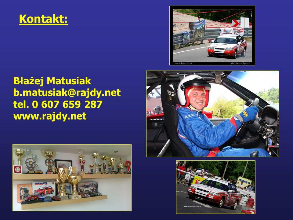 Kontakt: Błażej Matusiak b.matusiak@rajdy.net tel. 0 607 659 287