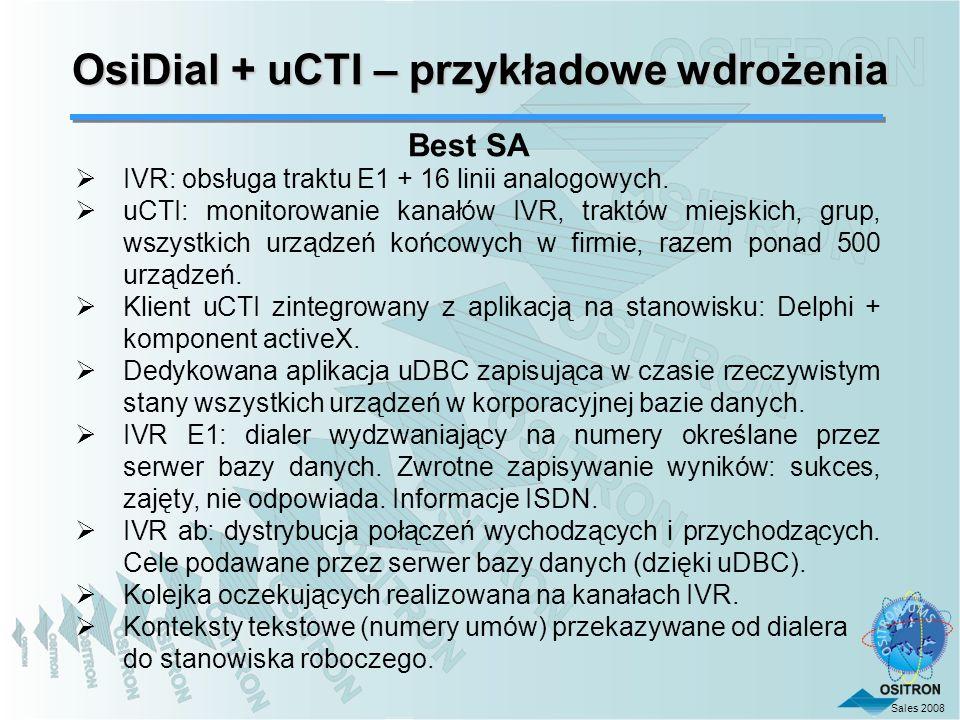 OsiDial + uCTI – przykładowe wdrożenia
