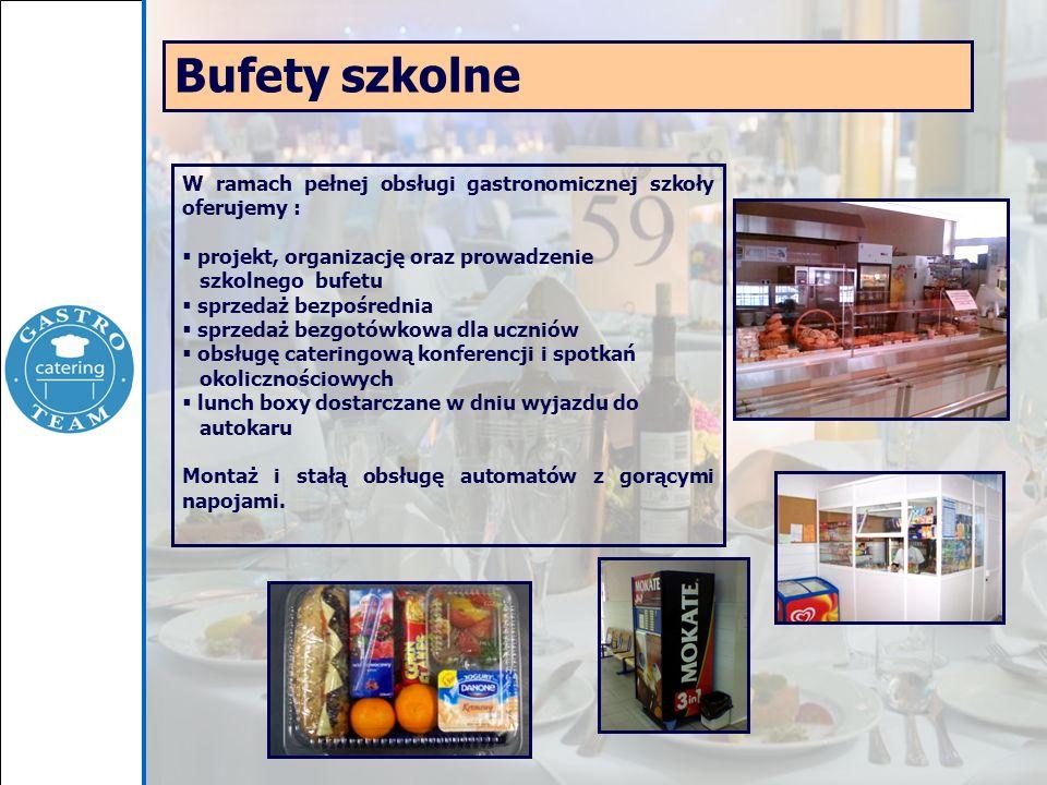 W ramach pełnej obsługi gastronomicznej szkoły oferujemy :