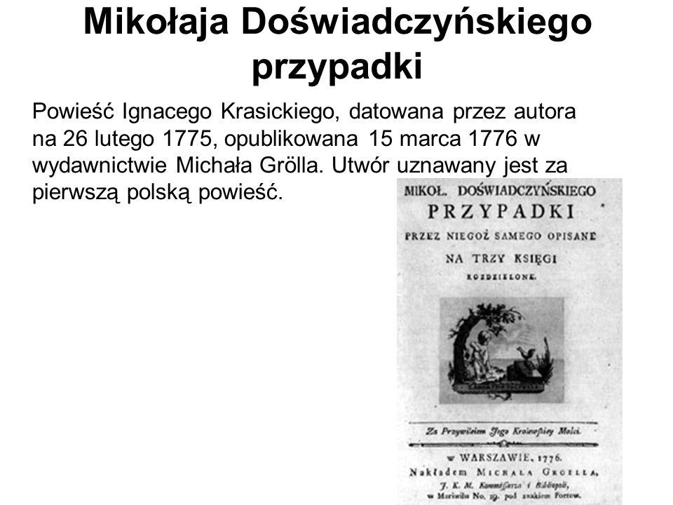 Mikołaja Doświadczyńskiego przypadki