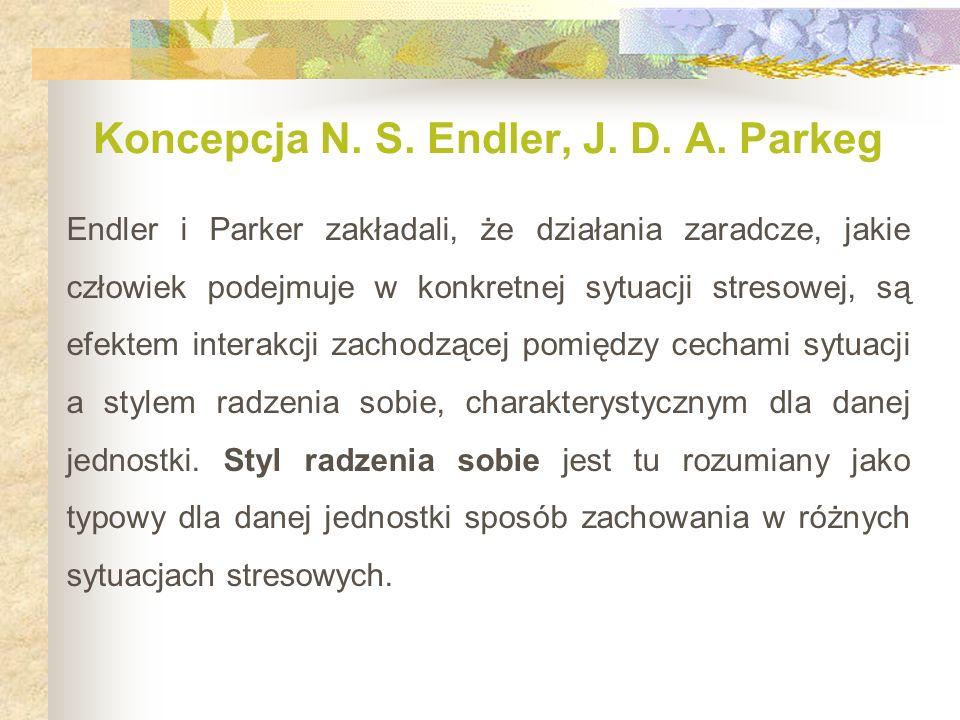 Koncepcja N. S. Endler, J. D. A. Parkeg