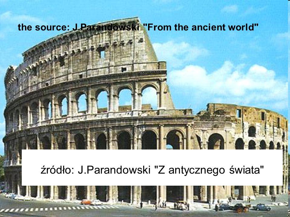 źródło: J.Parandowski Z antycznego świata