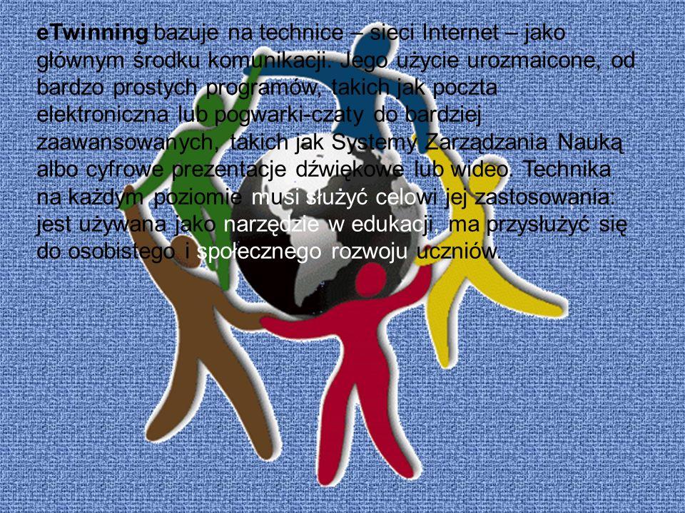 eTwinning bazuje na technice – sieci Internet – jako głównym środku komunikacji.