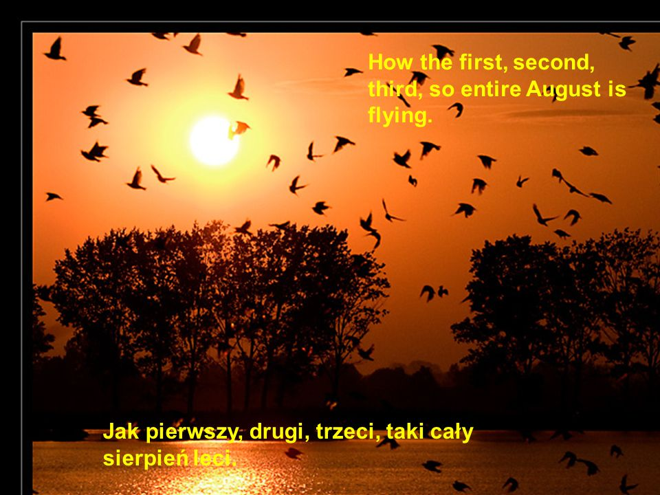How the first, second, third, so entire August is flying.