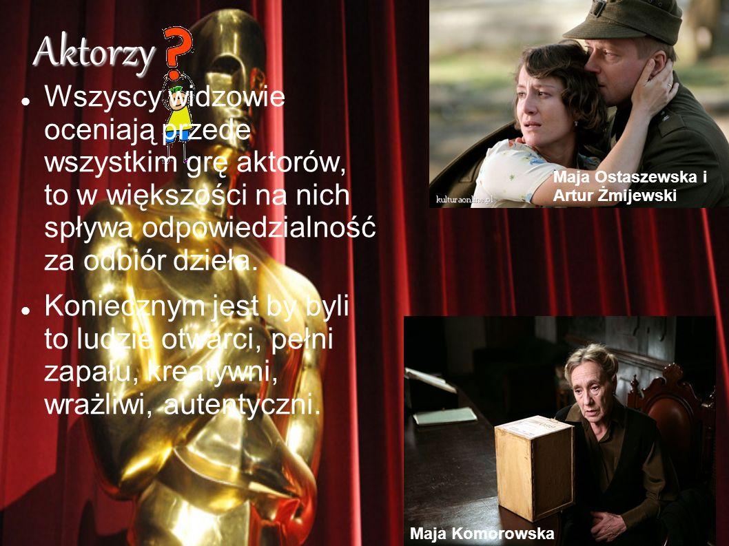 Aktorzy Wszyscy widzowie oceniają przede wszystkim grę aktorów, to w większości na nich spływa odpowiedzialność za odbiór dzieła.