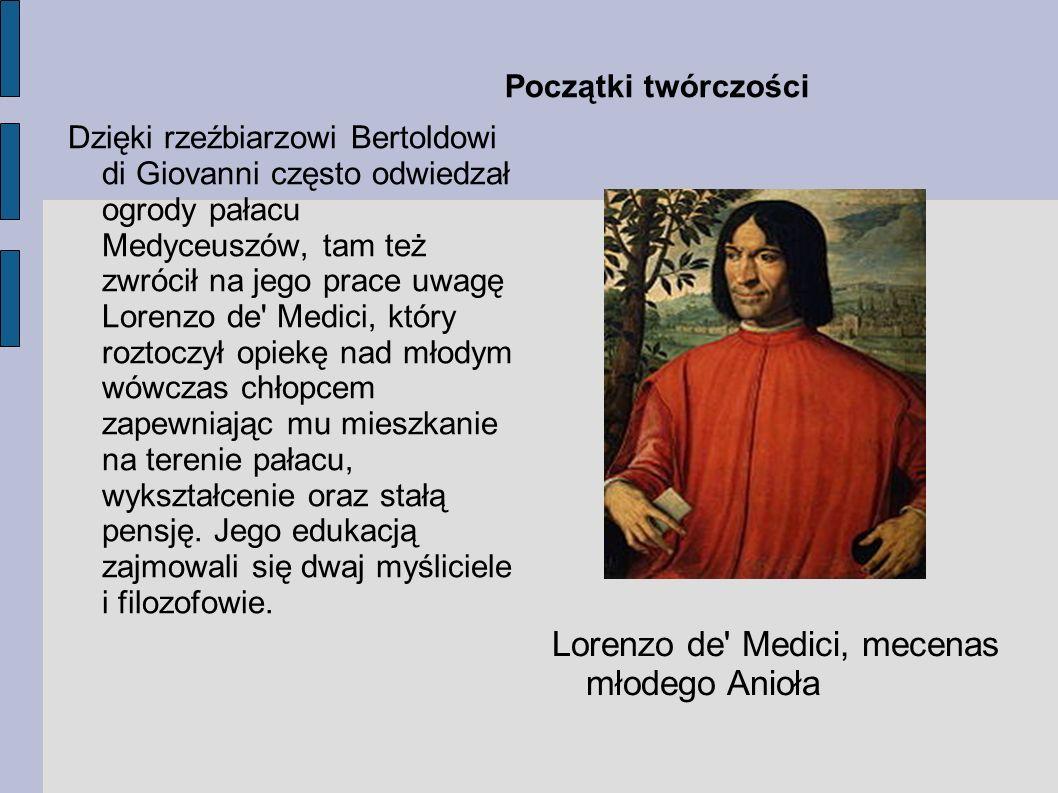 Lorenzo de Medici, mecenas młodego Anioła