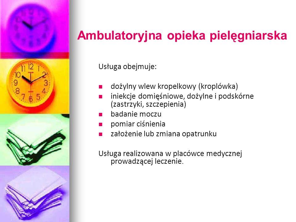 Ambulatoryjna opieka pielęgniarska
