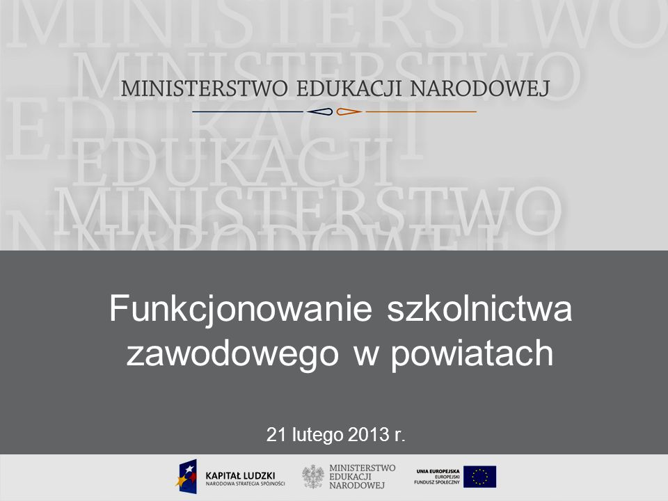 Funkcjonowanie szkolnictwa zawodowego w powiatach