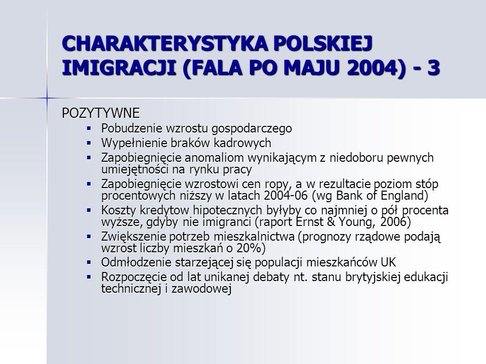 CHARAKTERYSTYKA POLSKIEJ IMIGRACJI (FALA PO MAJU 2004) - 3