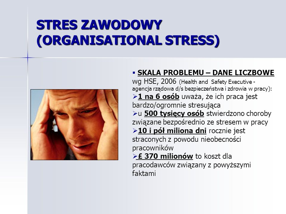 STRES ZAWODOWY (ORGANISATIONAL STRESS)