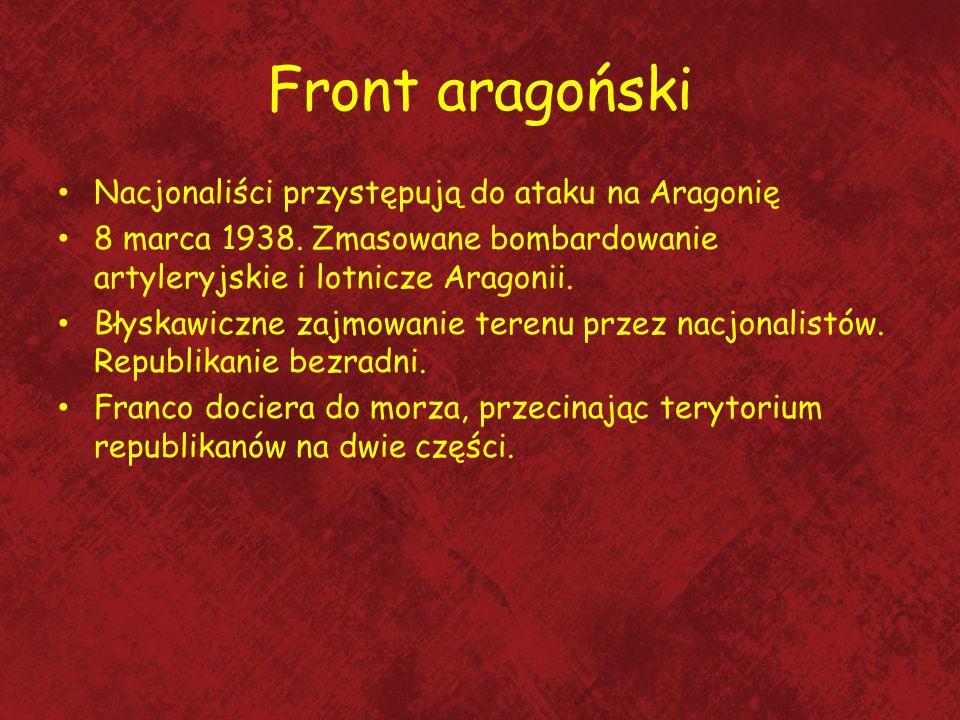 Front aragoński Nacjonaliści przystępują do ataku na Aragonię