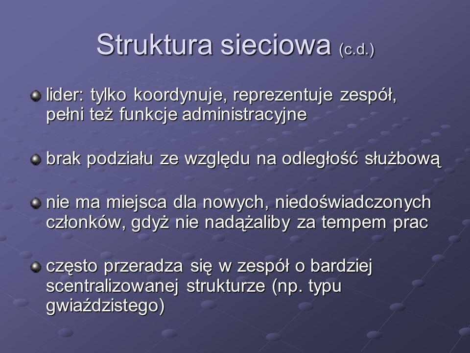 Struktura sieciowa (c.d.)