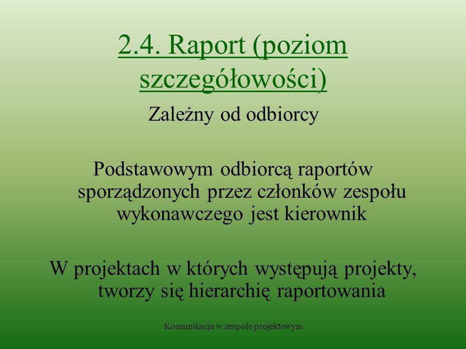 2.4. Raport (poziom szczegółowości)