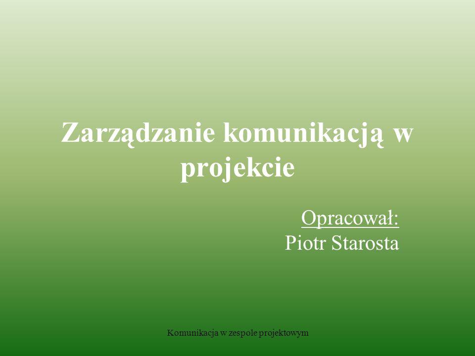 Zarządzanie komunikacją w projekcie