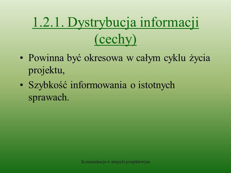 1.2.1. Dystrybucja informacji (cechy)