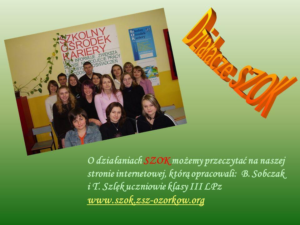 Działacze SZOK www.szok.zsz-ozorkow.org