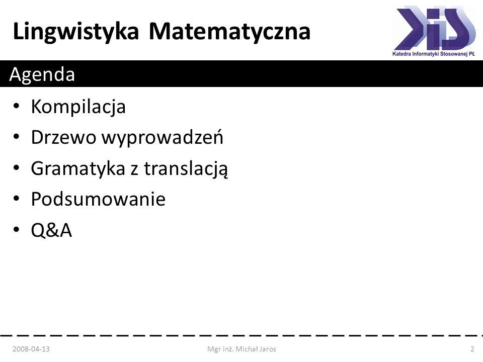 Gramatyka z translacją Podsumowanie Q&A