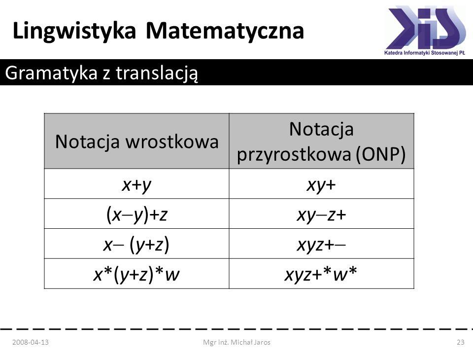 Gramatyka z translacją
