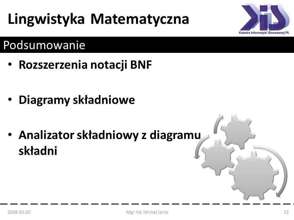 Rozszerzenia notacji BNF Diagramy składniowe