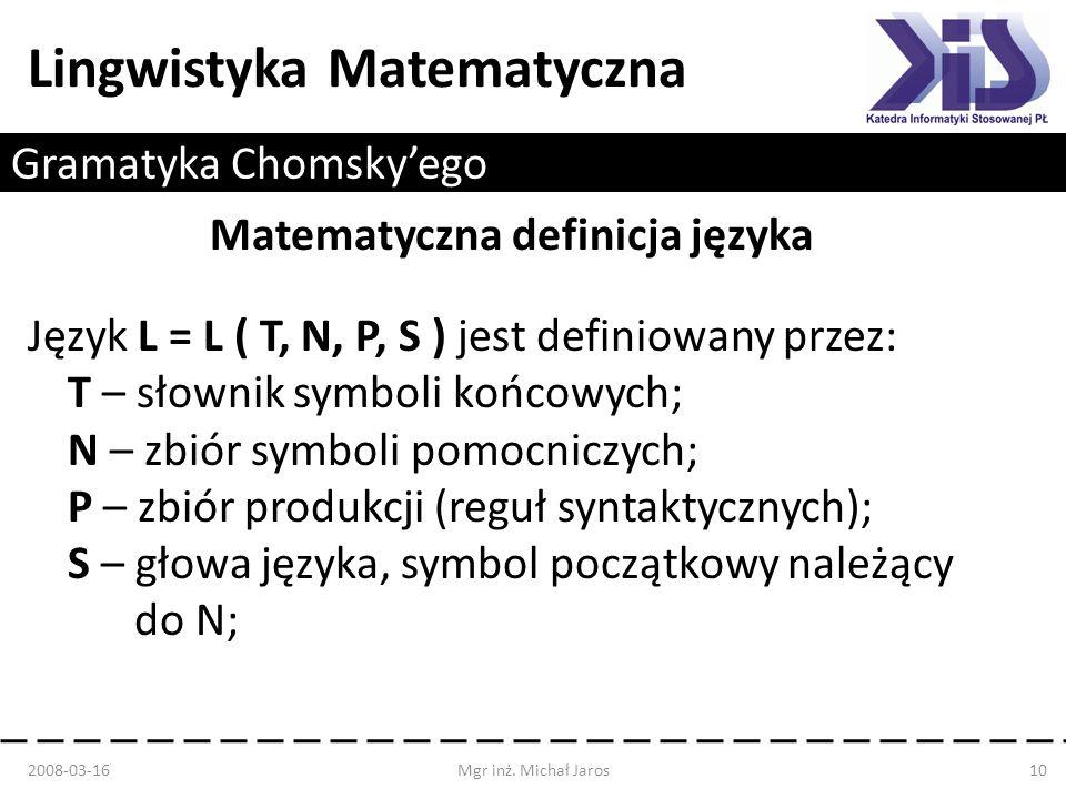Gramatyka Chomsky'ego