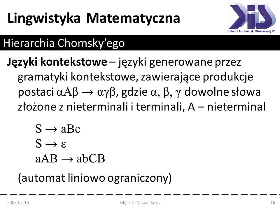 Hierarchia Chomsky'ego