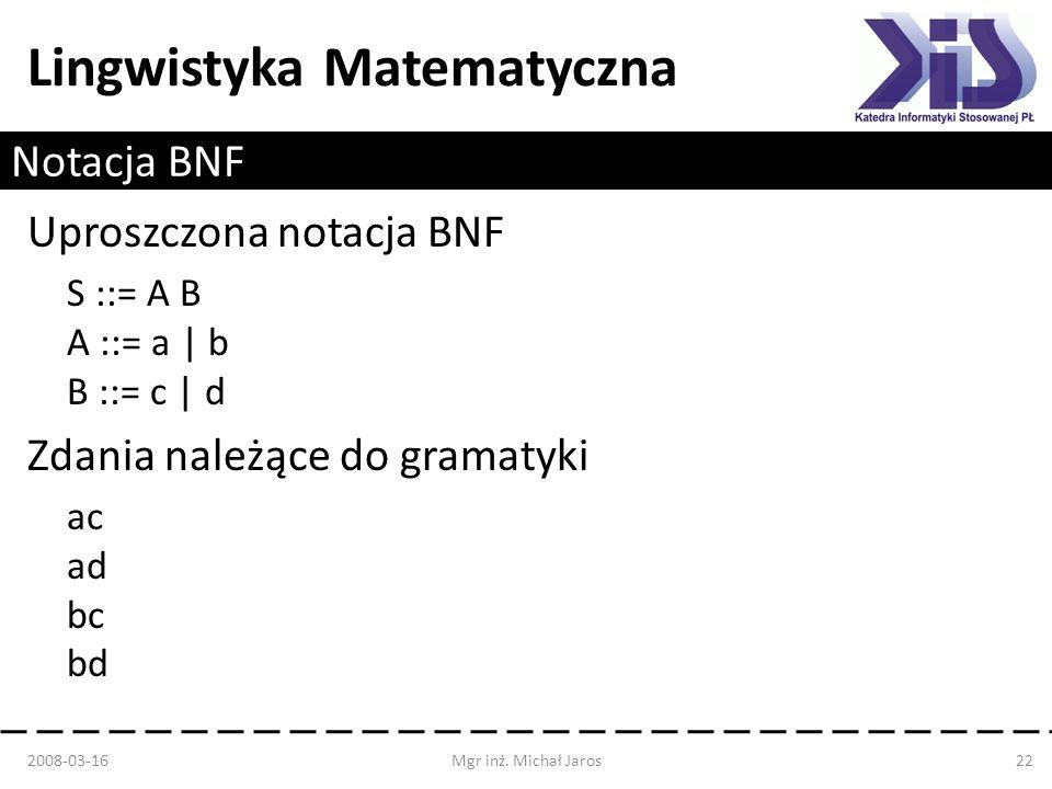 Uproszczona notacja BNF