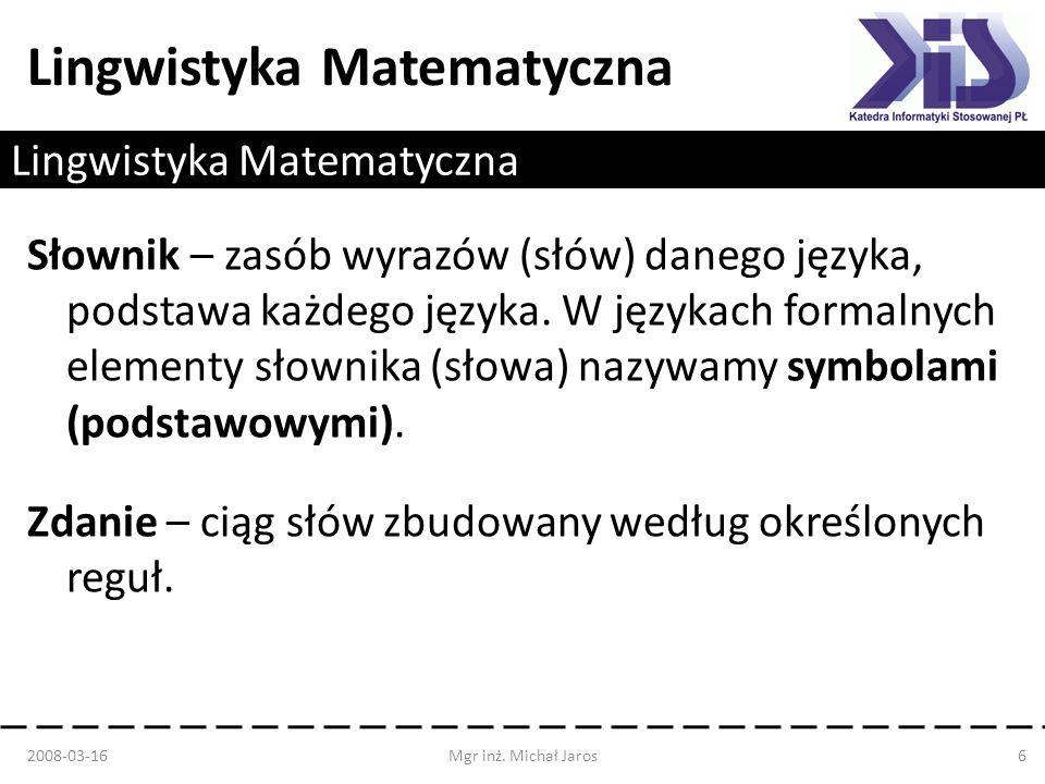Lingwistyka Matematyczna