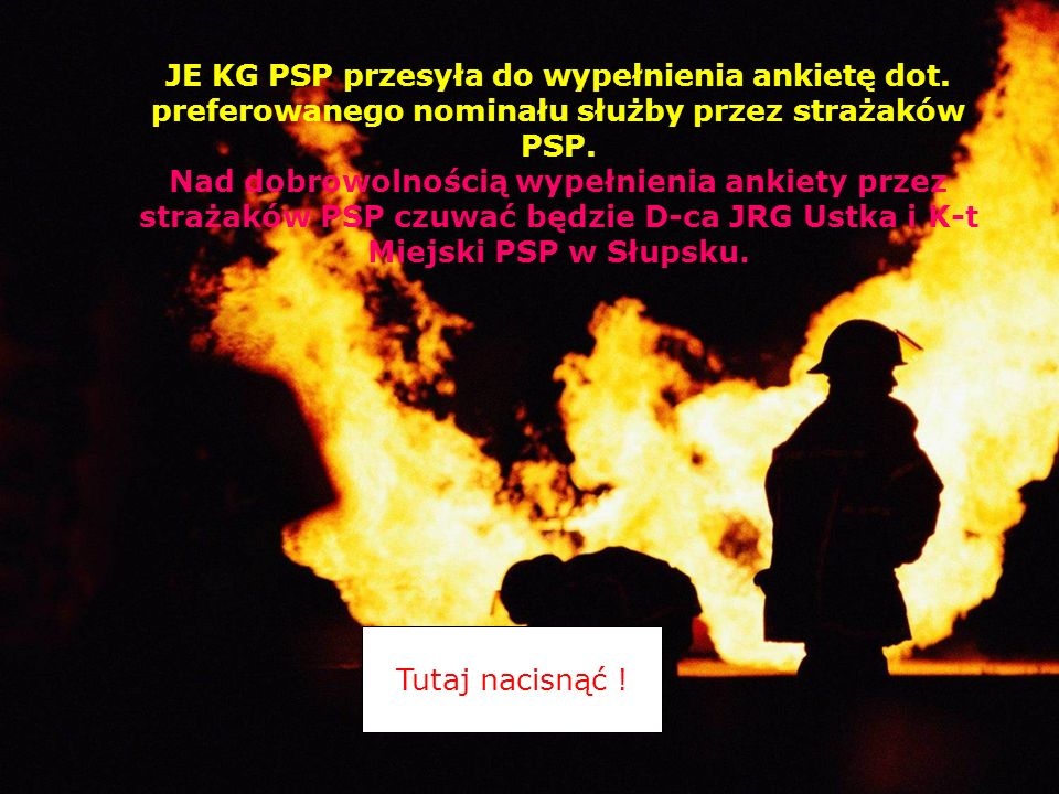 JE KG PSP przesyła do wypełnienia ankietę dot