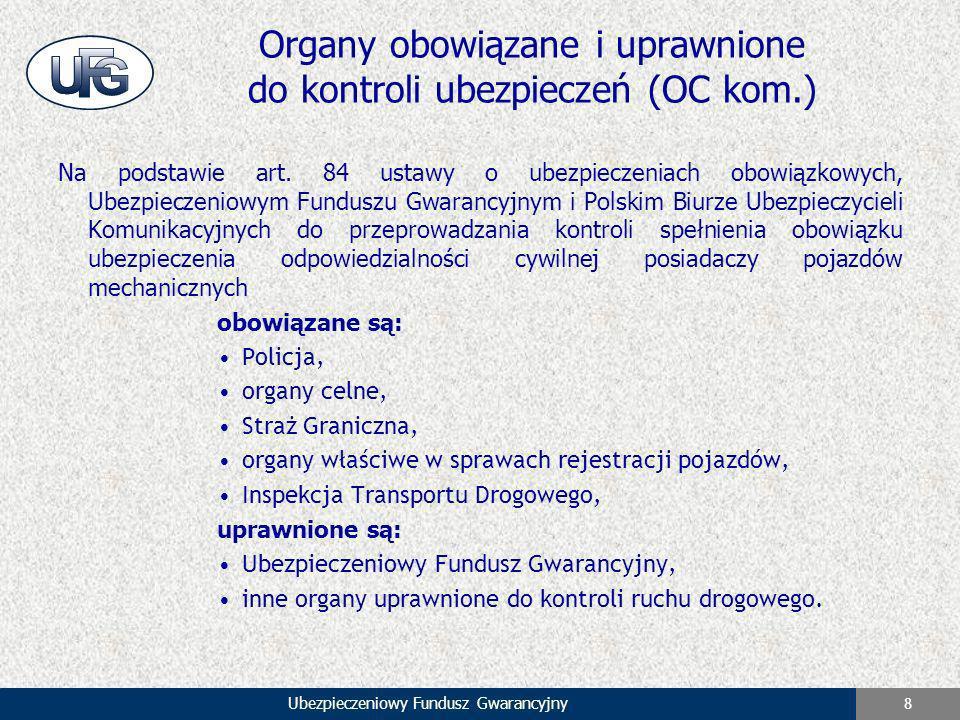 Organy obowiązane i uprawnione do kontroli ubezpieczeń (OC kom.)