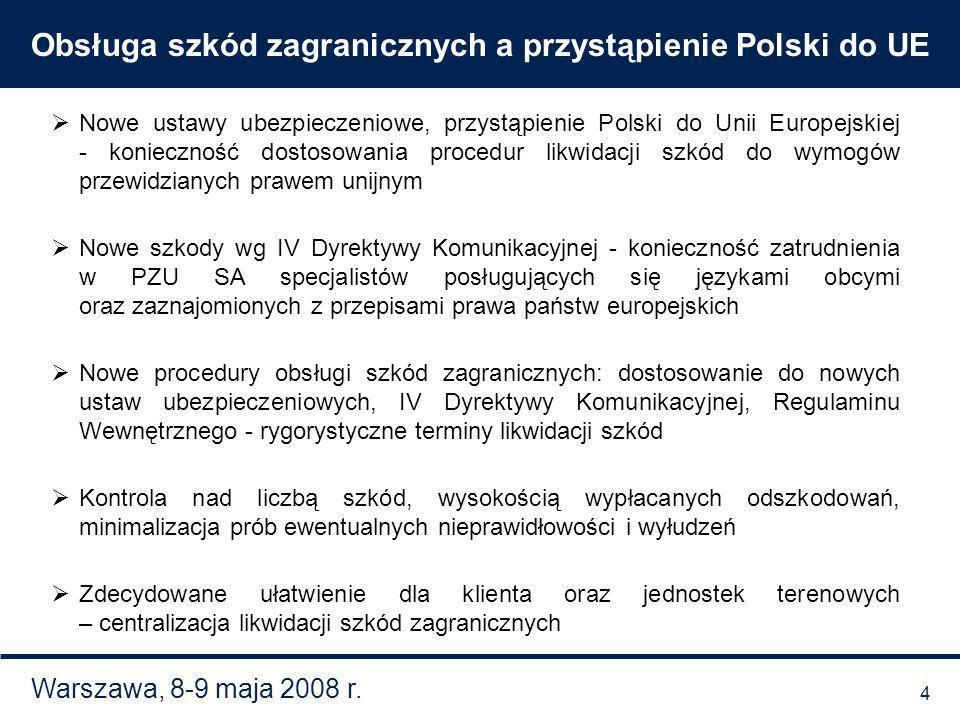 Obsługa szkód zagranicznych a przystąpienie Polski do UE