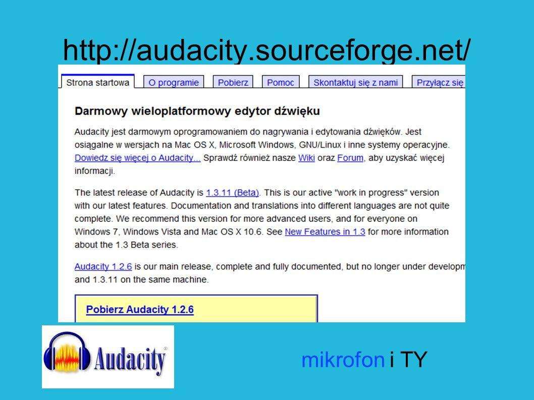http://audacity.sourceforge.net/ mikrofon i TY