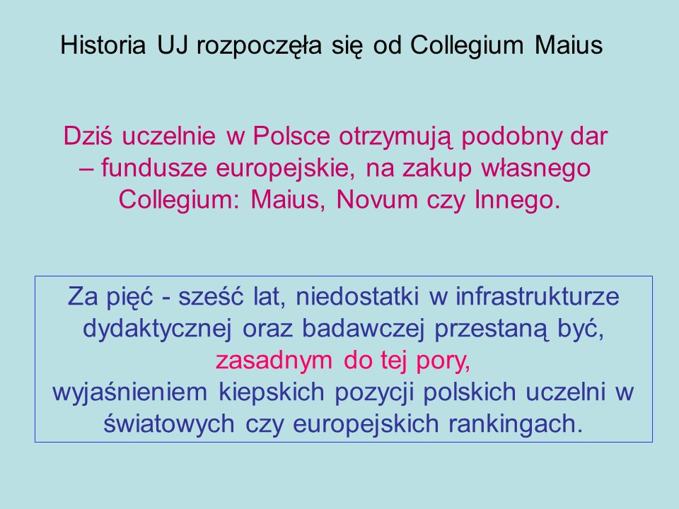 Historia UJ rozpoczęła się od Collegium Maius