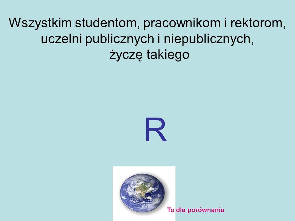 Wszystkim studentom, pracownikom i rektorom, uczelni publicznych i niepublicznych,