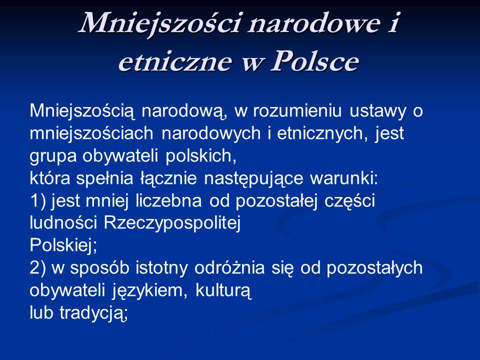 Mniejszości narodowe i etniczne w Polsce