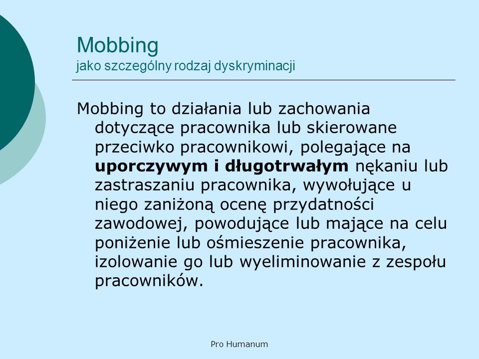 Mobbing jako szczególny rodzaj dyskryminacji