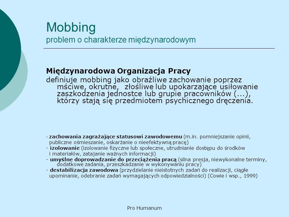 Mobbing problem o charakterze międzynarodowym