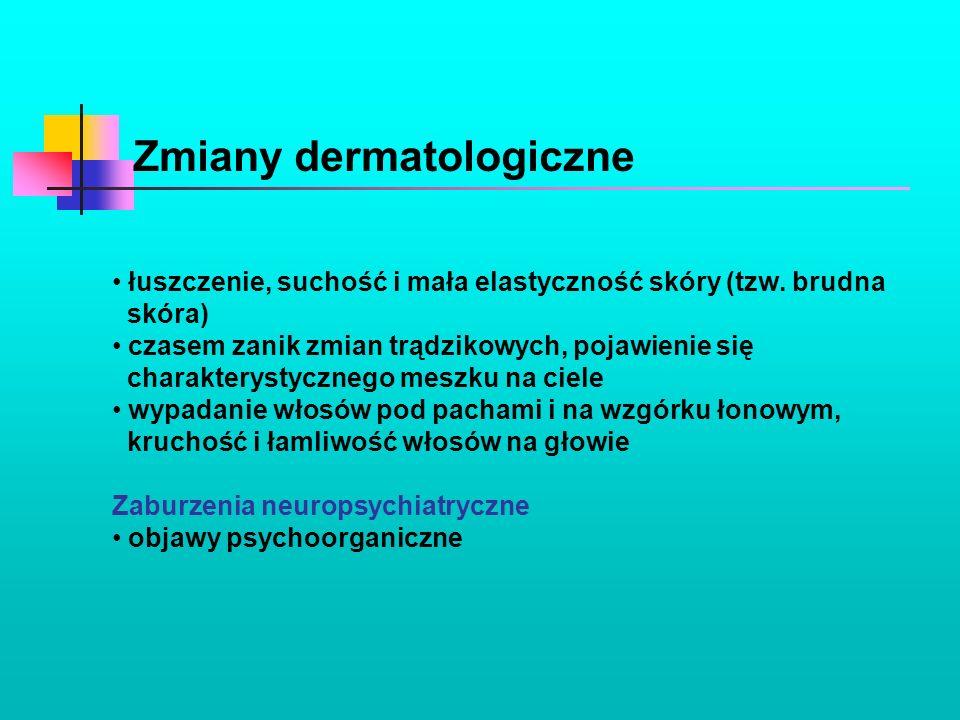 Zmiany dermatologiczne
