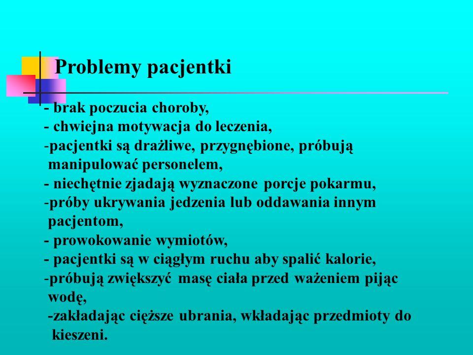 Problemy pacjentki - brak poczucia choroby,