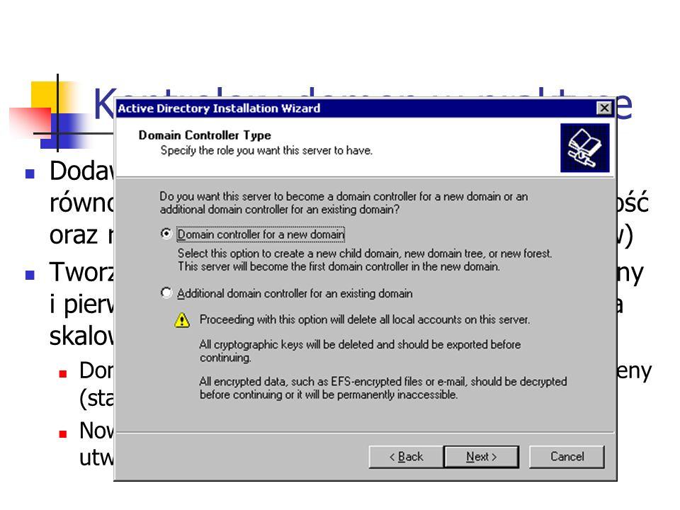Kontrolery domen w praktyce