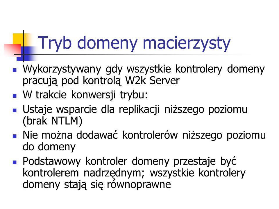 Tryb domeny macierzysty