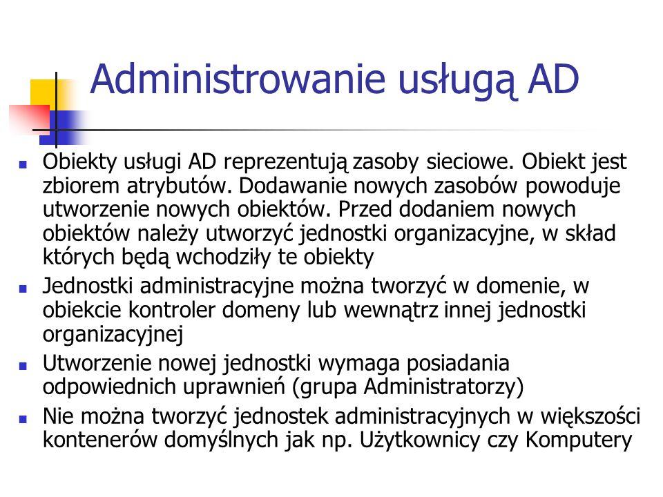 Administrowanie usługą AD