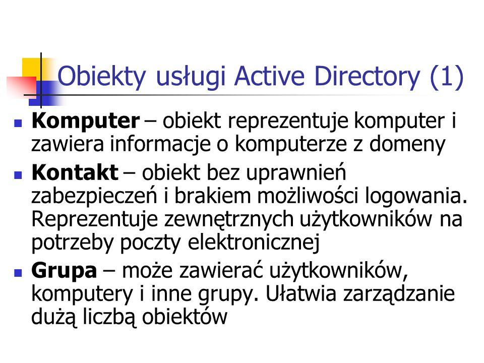 Obiekty usługi Active Directory (1)