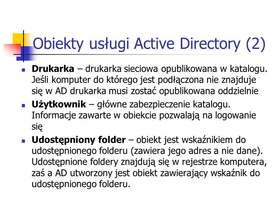 Obiekty usługi Active Directory (2)