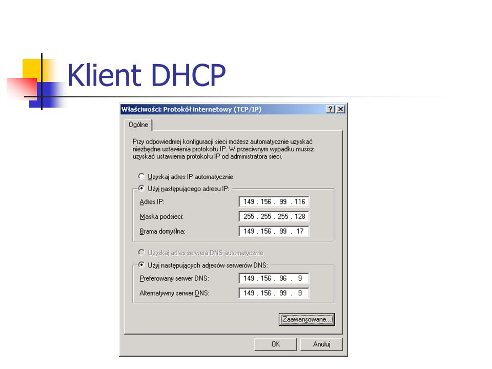 Klient DHCP