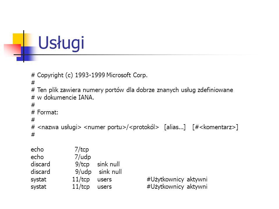 Usługi # Copyright (c) 1993-1999 Microsoft Corp. #