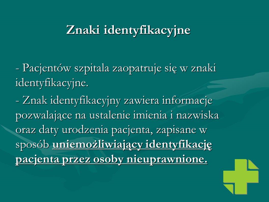 Znaki identyfikacyjne