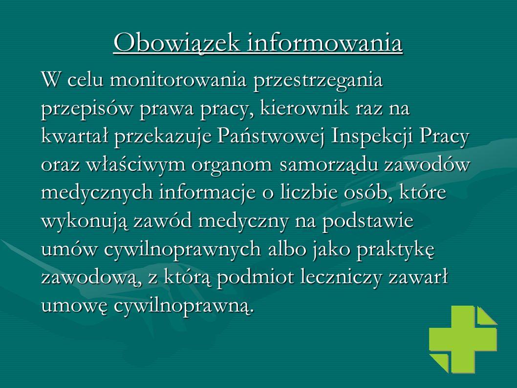 Obowiązek informowania