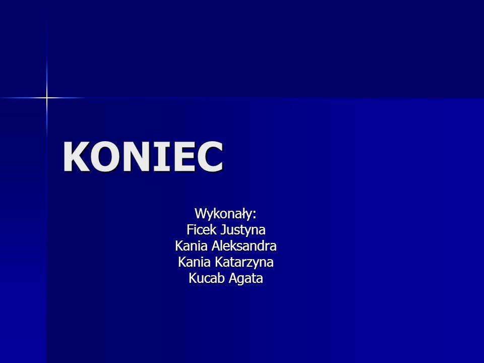 Wykonały: Ficek Justyna Kania Aleksandra Kania Katarzyna Kucab Agata