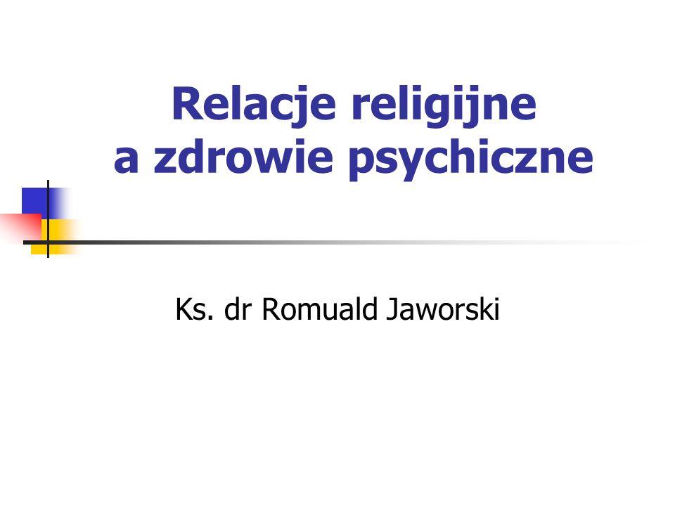 Relacje religijne a zdrowie psychiczne