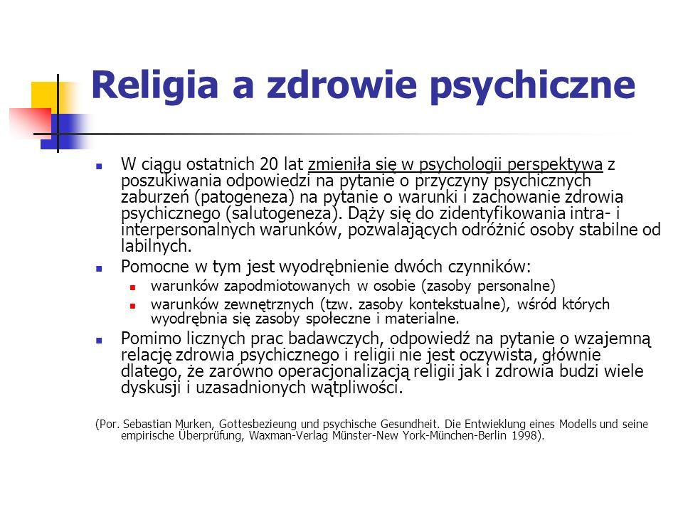 Religia a zdrowie psychiczne